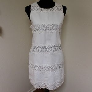 J. Crew White Dress with Lace Detail (6)